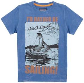 Cherokee Boys Sailing Print Cotton T-Shirt