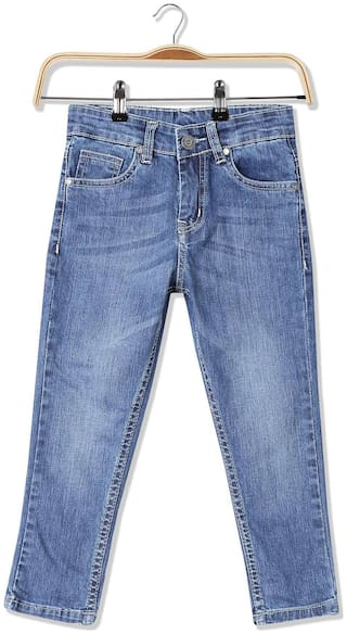 Cherokee Boys Slim Fit Stone Washed Jeans