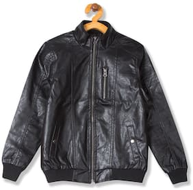 CHEROKEE Boy Blended Solid Winter jacket - Black