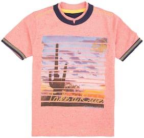 CHEROKEE Boy Cotton Printed T-shirt - Pink