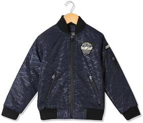 CHEROKEE Boy Polyester Printed Winter jacket - Blue
