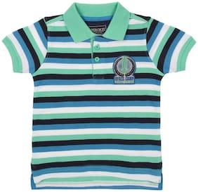 CHEROKEE Boy Cotton Striped T-shirt - Green