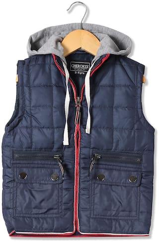 CHEROKEE Boy Polyester Solid Winter jacket - Blue