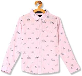 CHEROKEE Boy Cotton Printed Shirt Pink