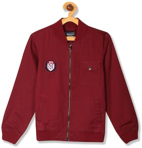 CHEROKEE Boy Cotton Solid Winter jacket - Red