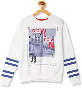 CHEROKEE Boy Cotton Printed Sweatshirt - White