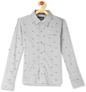 CHEROKEE Boy Cotton Printed Shirt Grey