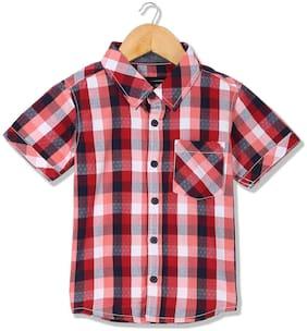 CHEROKEE Boy Cotton Checked Shirt Red