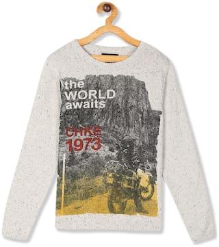 CHEROKEE Boy Cotton Printed Sweater - Grey