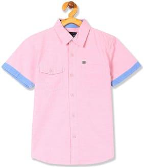 CHEROKEE Boy Cotton Solid Shirt Pink