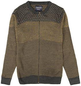 CHEROKEE Boy Acrylic Solid Sweater - Yellow