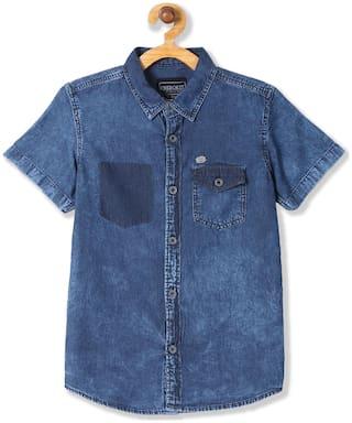 CHEROKEE Boy Denim Solid Shirt Blue