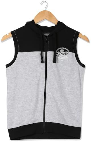 CHEROKEE Boy Cotton Colorblocked Sweatshirt - Grey