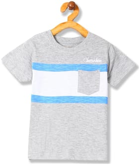CHEROKEE Boy Cotton blend Striped T-shirt - Grey