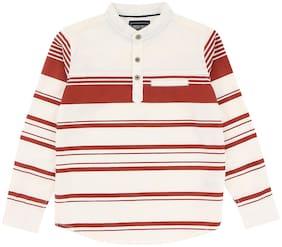 CHEROKEE Boy Cotton Striped Shirt White