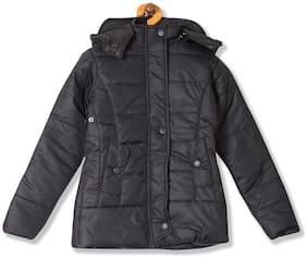 CHEROKEE Boy Polyester Solid Winter jacket - Black