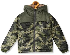 CHEROKEE Boy Polyester Printed Winter jacket - Green