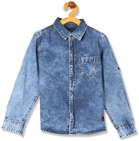 CHEROKEE Boy Denim Solid Shirt Blue