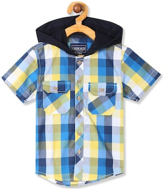 CHEROKEE Boy Cotton Checked Shirt Yellow