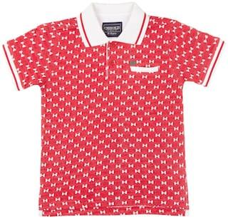 CHEROKEE Boy Cotton Printed T-shirt - Red