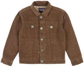 CHEROKEE Boy Cotton Solid Winter jacket - Brown