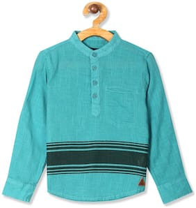 CHEROKEE Boy Cotton Striped Shirt Green