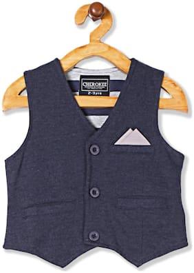 CHEROKEE Boy Cotton blend Solid Winter jacket - Blue