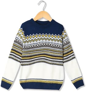CHEROKEE Boy Acrylic Solid Sweater - Blue