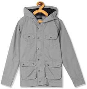 CHEROKEE Boy Cotton Solid Winter jacket - Grey