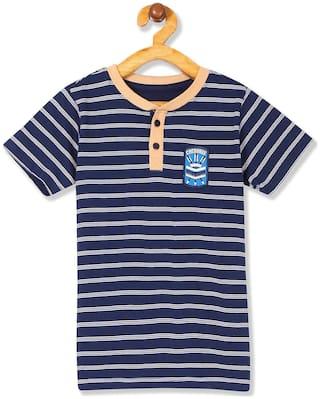 CHEROKEE Boy Cotton Striped T-shirt - Blue