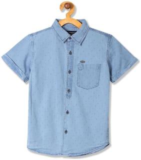 CHEROKEE Boy Cotton Printed Shirt Blue