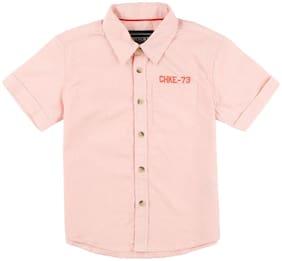 CHEROKEE Boy Cotton Solid Shirt Orange