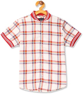 CHEROKEE Boy Cotton Checked Shirt White