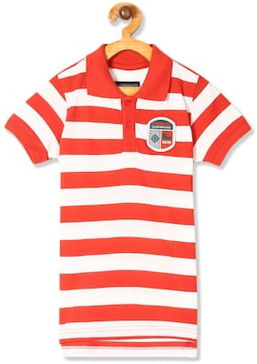CHEROKEE Boy Cotton Striped T-shirt - Orange