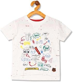 CHEROKEE Boy Cotton Embellished T-shirt - White
