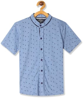 CHEROKEE Boy Cotton Printed Shirt Blue