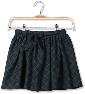 CHEROKEE Girl Cotton Checked Flared skirt - Green