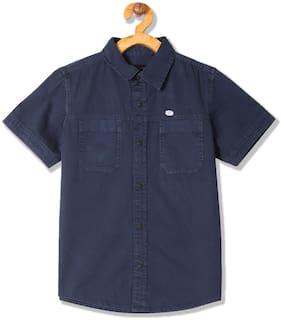 CHEROKEE Boy Cotton Solid Shirt Blue