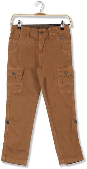 CHEROKEE Baby boy Cotton Solid Trousers - Brown