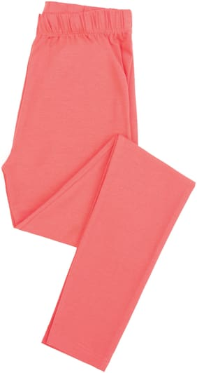 CHEROKEE Cotton Solid Leggings - Red