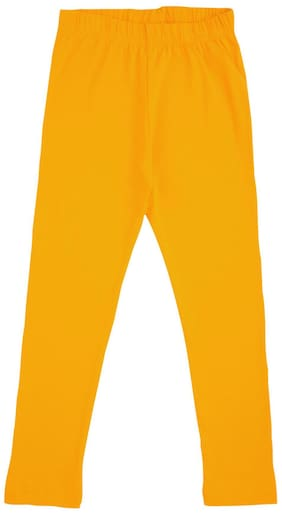 CHEROKEE Cotton Solid Leggings - Yellow