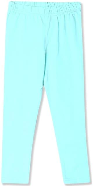 CHEROKEE Cotton blend Solid Leggings - Green