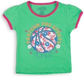 CHEROKEE Cotton Printed T shirt for Baby Girl - Green