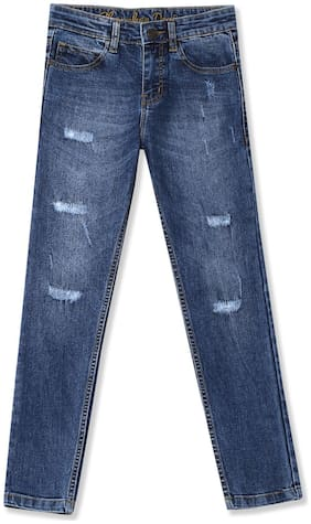 CHEROKEE Cotton Boys Slim Fit Distressed Jeans