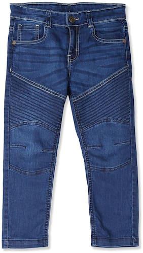 CHEROKEE Cotton Blue Boys Regular Fit Panelled Jeans