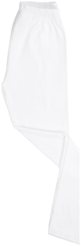 CHEROKEE Cotton blend Solid Leggings - White
