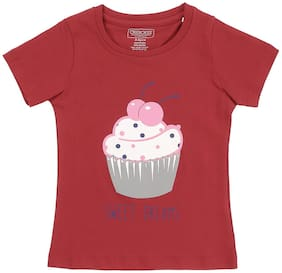 CHEROKEE Cotton Printed T shirt for Baby Girl - Red