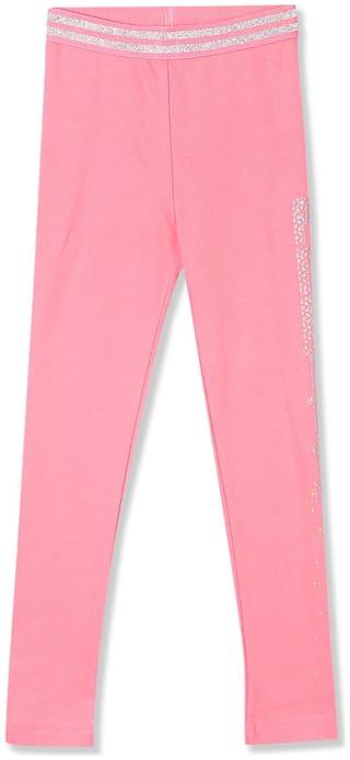 CHEROKEE Cotton Printed Leggings - Pink