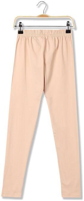 CHEROKEE Cotton blend Solid Leggings - Beige