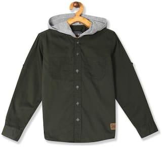 CHEROKEE Cotton Printed Shirt for Baby Boy - Green